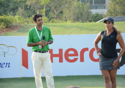 Anitya hosting the Skills Challenge- 2017 Hero Women's indian open