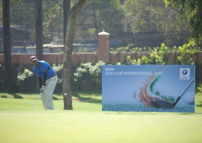 Player in Action at the BMW Golf Cup International