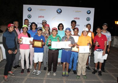 Prize winners from the 45th Lufthansa Junior Golf Tournament 2017