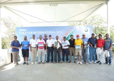 Prize winners of BMW Golf Cup International- Hyderabad 2017